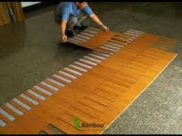 how to install lock bamboo flooring