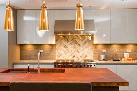 Beautiful Modern Kitchen Designs by Kitchen Brown Base Cabinets Stainless Wall Mount Sinks Gray