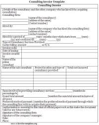 sample consulting invoice template invoice templates