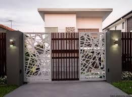 New Home Modern Design by Modern Architectural New Home Brisbane Screened Driveway Gate
