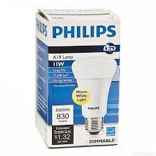 led 11 watt a19 60w equal warm white philips