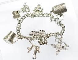 charm bracelet vintage silver images Vintage silver charm bracelet and charms JPG