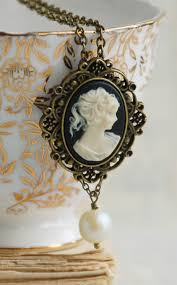 vintage necklace styles images Victorian cameo necklace vintage style black cameo romantic jpg