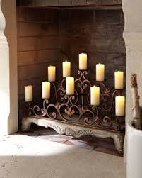 Rod Iron Home Decor Decorating Captivating Fireplace Candelabra For Home Decoration