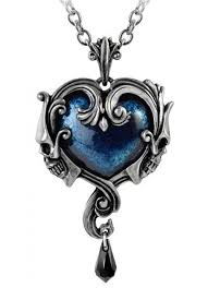 gothic heart necklace images Affaire du coeur skull heart pendant in pewter gothic jewelry jpg