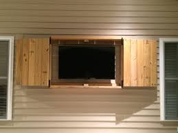 downright simple outdoor tv cabinet for 50