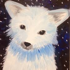 holiday gift making workshops for kids artic fox painting the