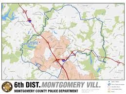 Mc Rockville Map Montgomery County Police Districts District Maps
