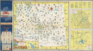 Map Montana Pictorial Map Idaho Montana Wyoming Waterton Glacier