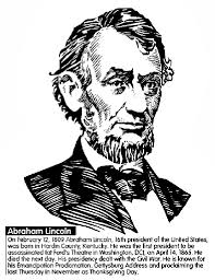 u s president abraham lincoln coloring page crayola