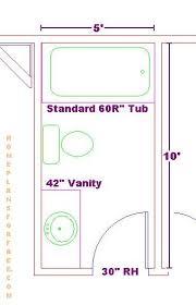 Small Bath Floor Plans Gorgeous 30 Small Bathroom 5 X 5 Decorating Inspiration Of