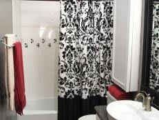 Black And Red Bathroom Ideas Colors Black And White Bathroom Decor Ideas Hgtv Pictures Hgtv