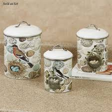 themed kitchen canisters nest and egg bird themed kitchen canister set