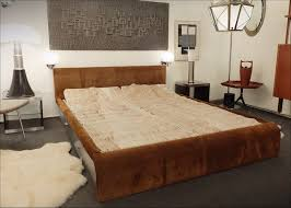 70s suede and brushed chrome bed frame other furniture via