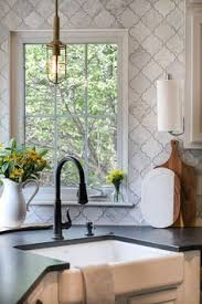 Backsplash For Kitchen by Arabesque White Tile With Grey Grout Google Search Steam