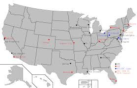 Usa Map By States by Afl U2013nfl Merger Wikiwand
