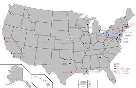 Nfl Usa Map by Afl U2013nfl Merger Wikiwand