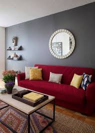 living room best 2017 living room colors with red sofa and