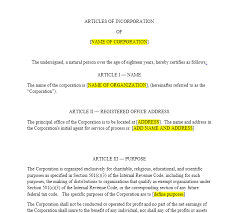 Income Statement For Non Profit Organization Template by Nonprofit Articles Of Incorporation Harbor Compliance