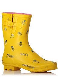 womens boots asda bumblebee print wellington boots george