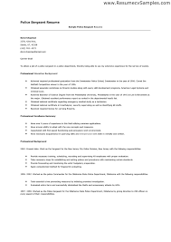 Corrections Officer Resume Excellent Police Sergeant Resume Cover Letter With Police