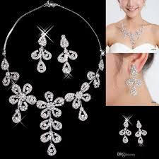 cheap necklace stores images Cheap flower wedding bridal jewelry for prom party dresses jpg