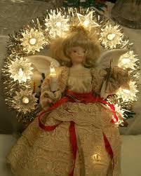 lighted angel christmas decoration vintage lighted angel tree topper 12 silver lights tinsel