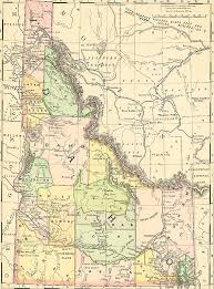map of idaho picture of vintage idaho map i want to use something like this