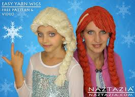 disney inspired frozen elsa anna inspired yarn wig wigs
