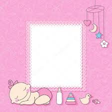 baby girl cards baby girl announcement card stock vector baksiabat 22082019