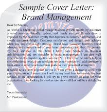 sample cover letters brand human resource marketing and finance