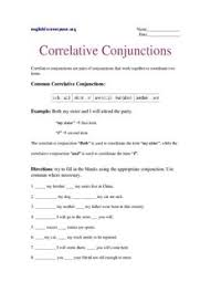 correlative conjunctions english worksheets pdf drive