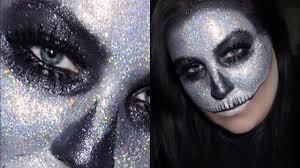 Halloween Makeup Shop by Holographic Glitter Skull Halloween Makeup Tutorial Youtube