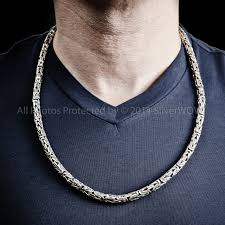 mens silver byzantine necklace images 6mm silver byzantine necklaces JPG