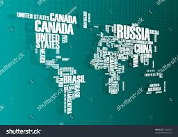 World Map Countries World Map Countries Wordcloud Stock Vector 72328978 Shutterstock