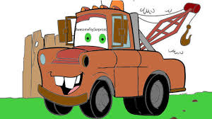 disney cars mater coloring page activity for kids toddlers