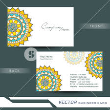 two sided business card with proper place holders for your content