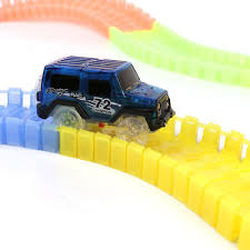as seen on tv light up track magic tracks diy 220 glow in the dark led light up race car track as