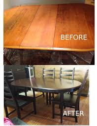 Dining Room Table Refinishing by Table Refinished In General Finishes Gel Stain In Java And Black