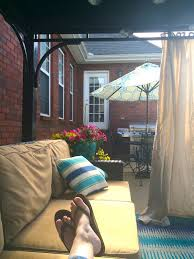 how to make outdoor drapes chaotically creative