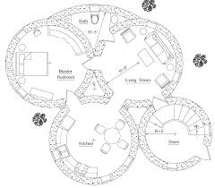 Home Plans With Apartments Attached by Roundhouse Plan Earthbag House Plans