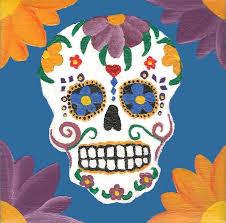 Dia De Los Muertos Home Decor El Dia De Los Muertos Skull Painting By Tara Campbell