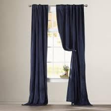Lined Linen Drapery Panels Blue Curtains U0026 Drapes You U0027ll Love Wayfair