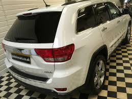 white jeep grand cherokee used jeep grand cherokee 3 0 crd overland 5dr auto 1 lady owner