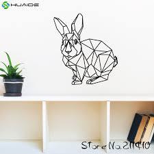 rabbit home decor geometric rabbit wall art decal wall stickers home decor bedroom