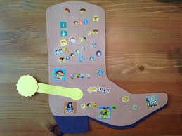 cowboy boot craft western craft preschool craft kids crafts