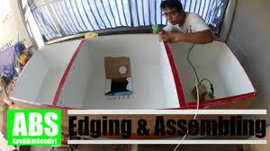 kitchen top cabinet 3 edging u0026 assembling youtube