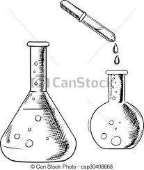 vector clipart of laboratory optical microscope icon sketch for