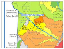 Yellow River Map Minnesota River Yellow Medicine River Watershed Minnesota