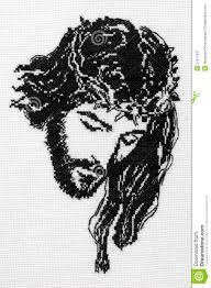 jesus christ cross stitch royalty free stock photography image
